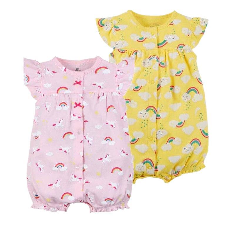 Новый 2018 orangemom Официальный магазин детские одежда для девочек цельнокроеные комбинезоны одежда для малышей, хлопковый комбинезон для тела ...