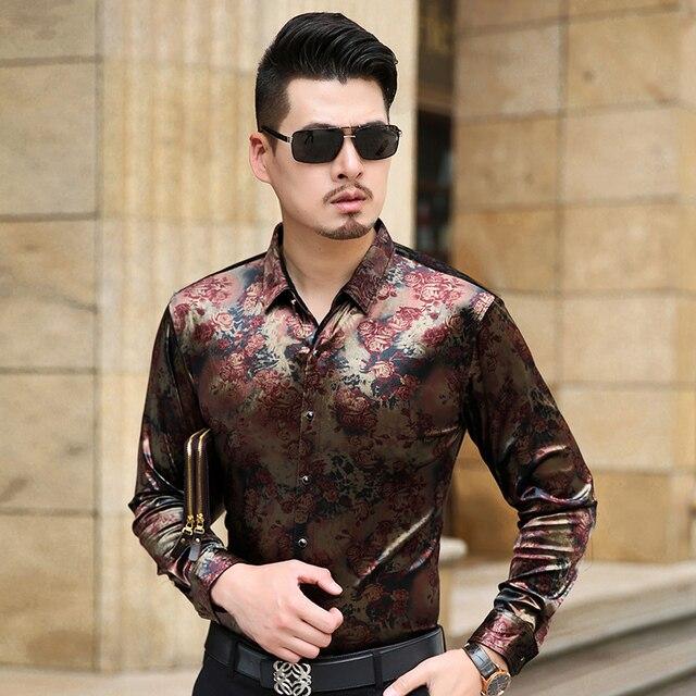 Camisa de Manga Longa dos homens novos da Chegada Masculino de Veludo Casuais Marca de Alta Qualidade Dos Homens Vestido de Camisas Para Homem Magro Masculina Camisa
