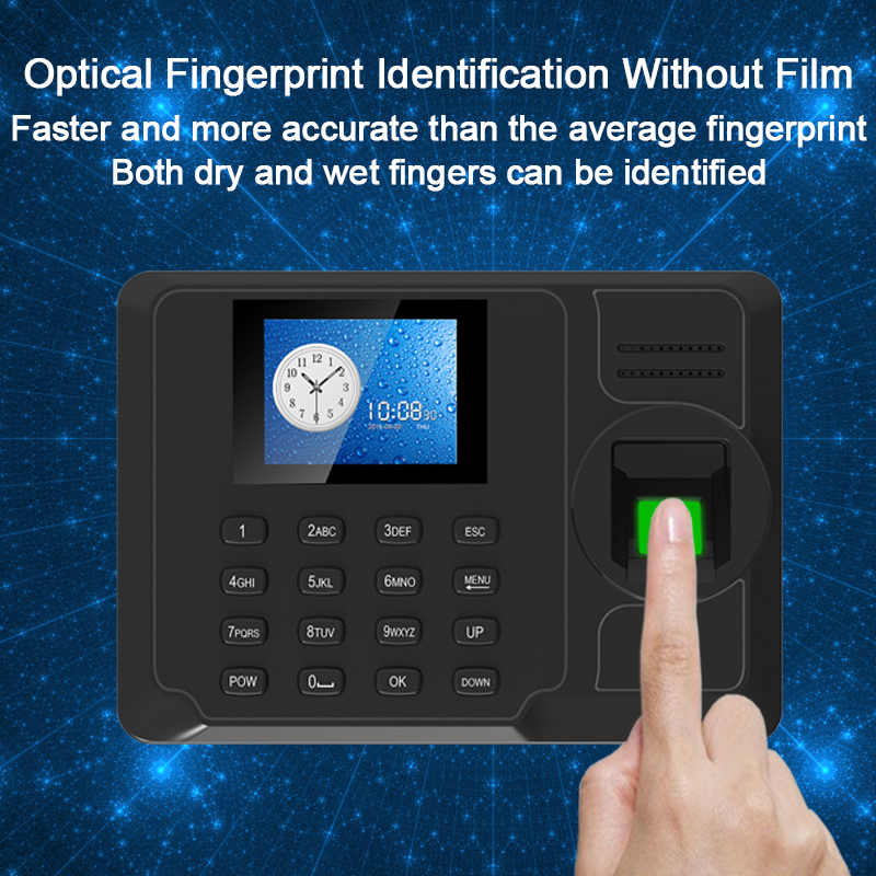 Biometric Fingerprint Attendance System Machine TCPIP USB Time Clock Employee Office Time Attendance Recorder Spanish Portuguese eesye biometric fingerprint time attendance system time clock time recorder office employee electronic digital reader machine