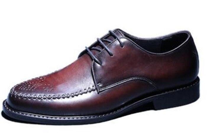 Hommes d'affaires oxford chaussures à lacets chaussures décontractées bout pointu plat tout match robe chaussures décontractées