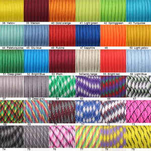 Image 3 - YoouPara 250 Colors Paracord 550 Rope Type III 7 Stand 100FT 50FT Paracord Cord Rope Survival kit Wholesale