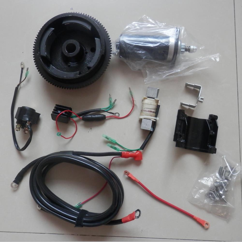 T9.9 ELECTRIC START KIT FOR YAMAHA PARSUN HIDEA  HANGKAI T9.9B PIONEER JINHUA T15 T18  2 STROKE 246CC 15HP 18HP OUTBOARDS BOATS