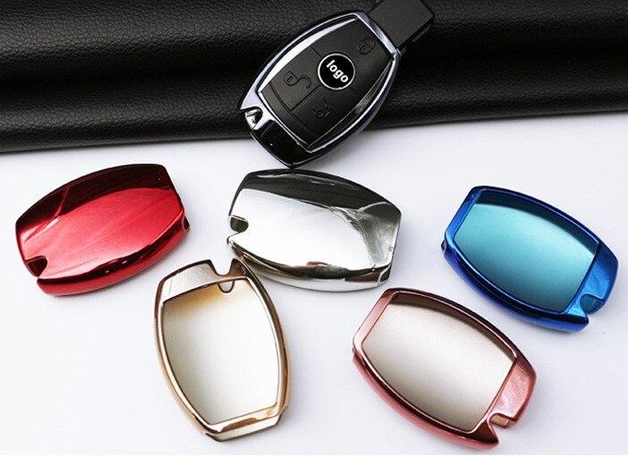 2017 Gift Soft TPU Car Key Cover Holder Shell For Mercedes Benz A C E G ClassW203 W211 CLK C180 E200 A200 C200L AMG Accessories