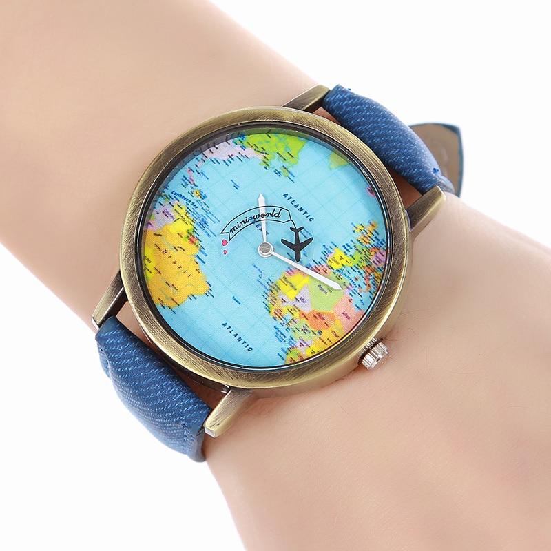 World map classic casual quartz women wristwatch gumiabroncs Choice Image
