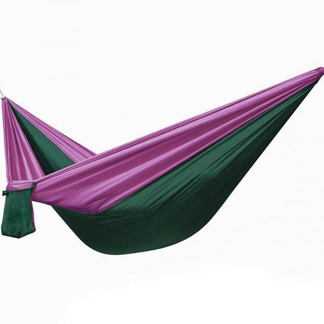 Single Parachute Cloth Hammock Outdoor Travel And Adventure Sports Fashion Lightweight Portable Hammock