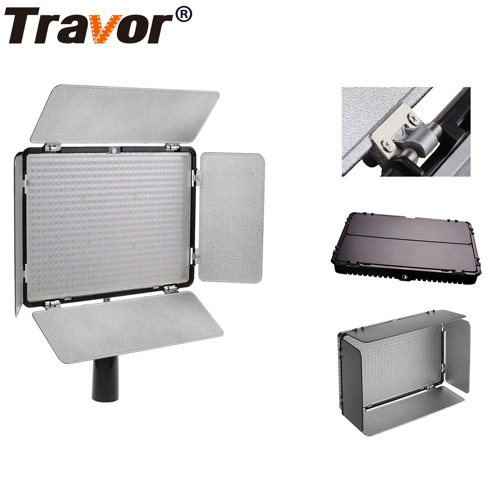 Travor TL-600 Led Video Light Panel with 2 Color filters 3200K 5500K IR for Most Model of Canon Nikon Sony DSLR Camera Camcorder godox led 308y 308 leds professional led video 3300k light with remote control for canon nikon camera dv camcorder