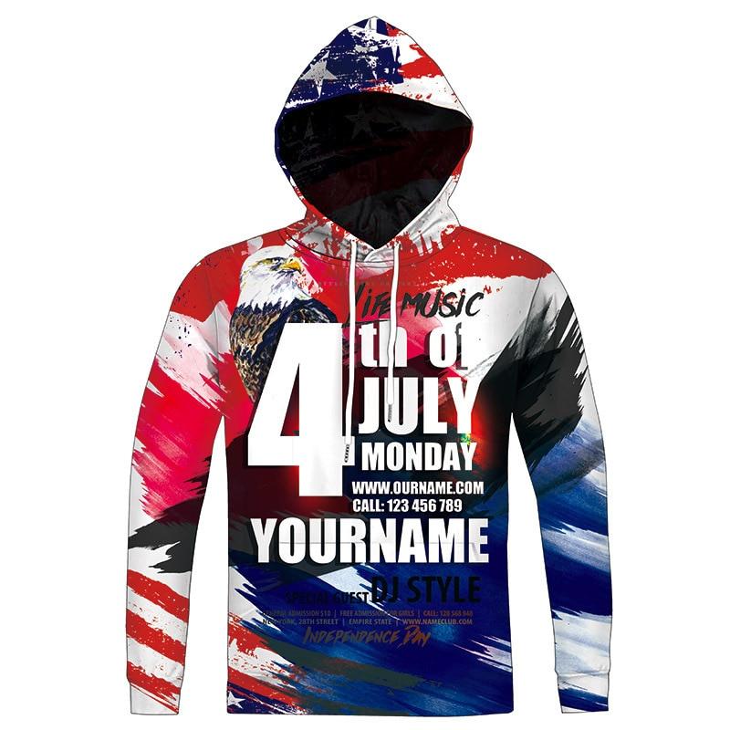Autumn New Style Sweatshirt Men Eagle 3D Print Hoodies Sweatshirt Men Hooded Sweats Tops Hip Hop Unisex Pullover Men Hoodie