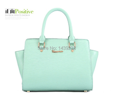 Fashion split cowhide women leather handbag should bag in cross body available zip closure