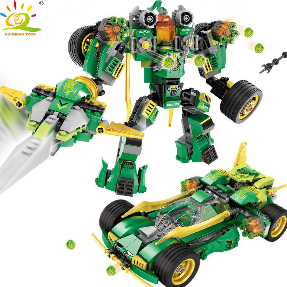 509 pcs 2in1 Transformé Mech Blocs de Construction De Voiture Compatible Legoed Ninjago Armure Chiffres Briques Éducatifs Jouets pour enfants