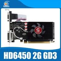 כרטיסים גרפיים GPU Veineda מקורי HD6450 2 GB DDR3 HDMI גרפי כרטיס PCI Express עבור ATI Radeon משחקים