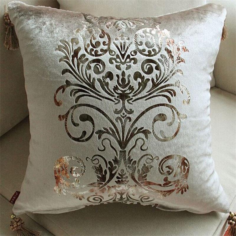 Luxury Sofa Pillows European Embroidery Cushions Luxury