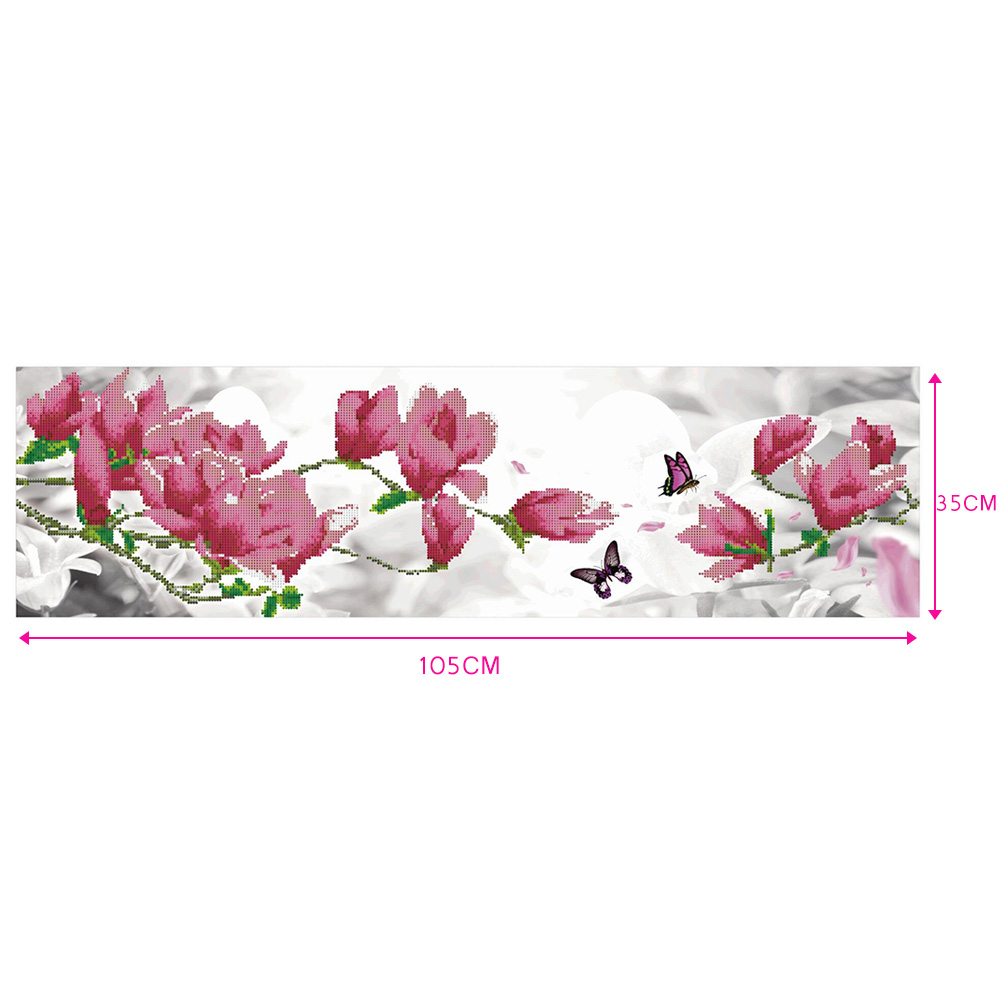 Ambitious 35*105cm Diamond Painting Cross Stitch Diy Home Decor Flowers Mosaic Pasted Embroidery Crystal Painting Drawing Crafts Dc112 Factory Direct Selling Price Arts,crafts & Sewing