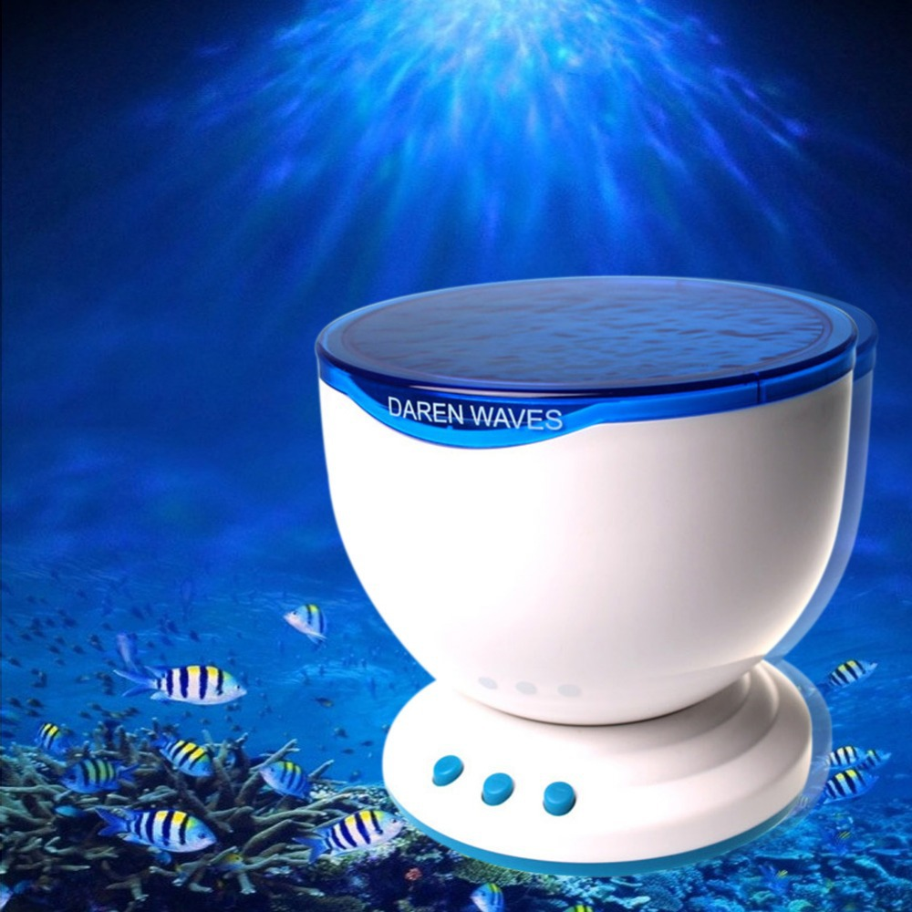 Night light projector lamp - Aliexpress Com Buy Goeswell Novelty Led Night Light Projector Ocean Daren Waves Projector Lamp With Speaker From Reliable Novelty Led Suppliers On