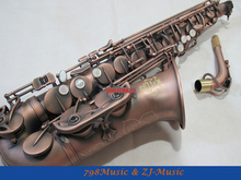 Red Antique Eb Alto Saxophone High F# With-White Pearl Buttons
