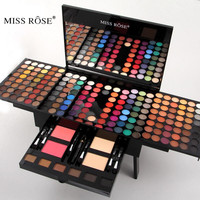 Miss Rose Makeup Set 180 Colors Matte Shimmer Eyeshadow Palette Professional Cosmetics Blush Eyebrow Contouring Makeup Kit