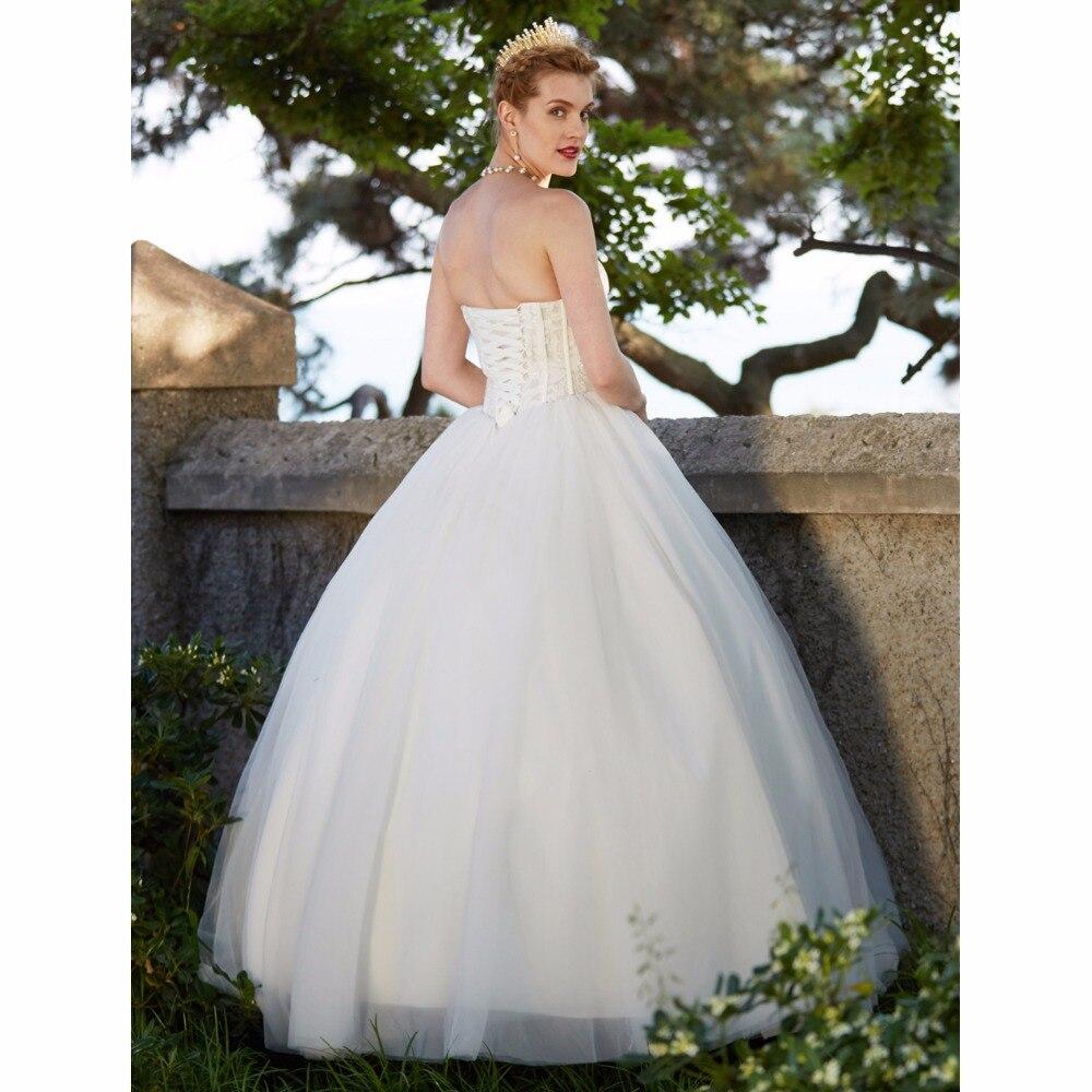 LAN Ting невесты бальное платье свадебное платье Милая Пол Длина Тюль свадебное платье с Бисер аппликации