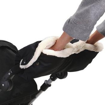 Dzieci zima ciepły wózek rękawice Pushchair ręka Muff wodoodporny wózek akcesoria rękawiczka Baby buggy wózek sprzęgła grube rękawice polarowe tanie i dobre opinie PJ011 # A8 Poliester bawełna 14T Faylisvow EN bs AS NZS GS ASTM SOR