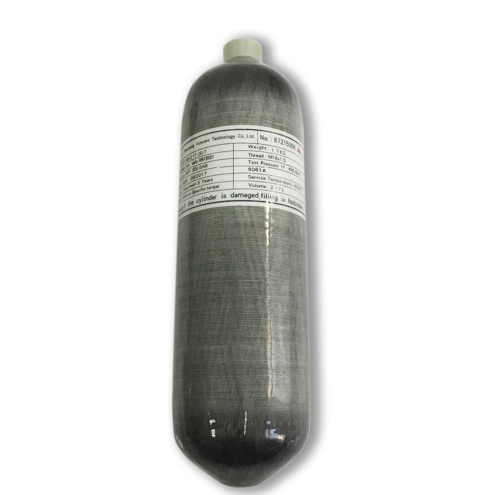 AC1217 nouveau Type 2.17L CE 300bar 4500psi bouteille haute pression réservoir d'air Softgun gaz cylindre Fiber de carbone Pcp Air carabine Aceecare