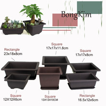 Flower Pot Imitation Plastic Balcony Square Plastic