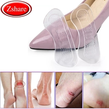 1 Pair Soft Silicone Gel Women Heel Inserts protector Foot feet Care Shoe Insert Pads Insole Cushion Feet Accessories HD-X