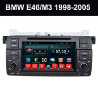 Double din in car multimedia dvd gps navigation system cd player tuchscreen with bluetooth for BMW E46 Android 7.1 2GB 32GB