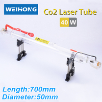 40W Co2 Laser Tube 700mm Length 50mm Diameter