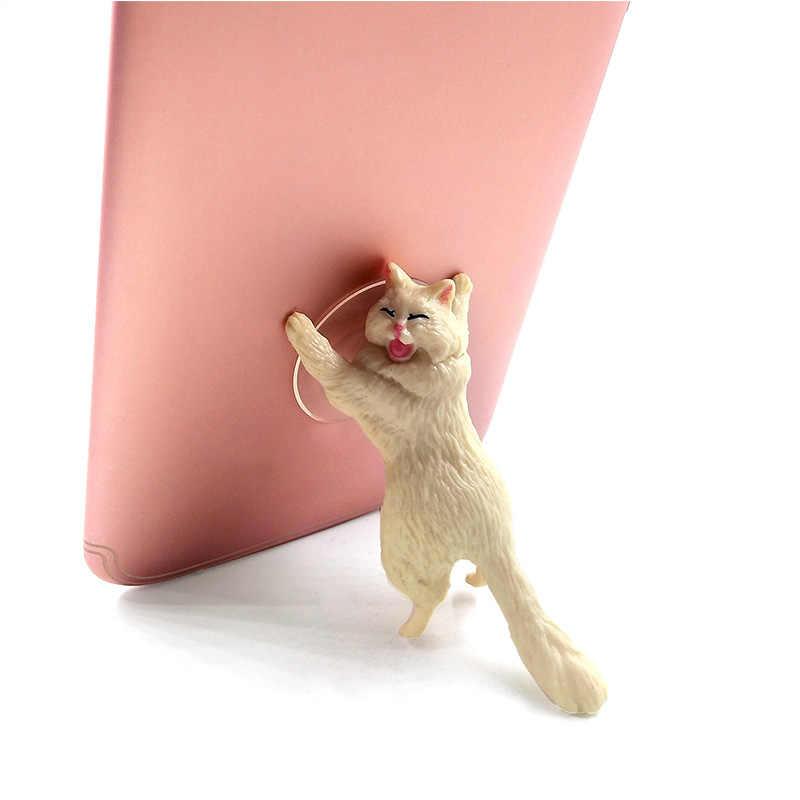 Diy Gato postura Suporte Suporte Do Telefone Otário Animais decoração de casa acessórios de decoração do jardim moderno de fadas em miniatura estatueta toy