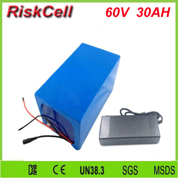Free Customs taxes and shipping 60 volt 3000W Rechargeable 60v 30ah lithium ion battery pack with BMS and charger free customs taxes high quality 48 v li ion battery pack with 2a charger and 20a bms for 48v 15ah 700w lithium battery pack