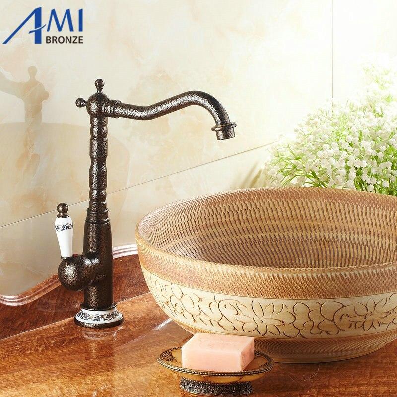 Roman Bronze faucets Kitchen Swivel Brass Faucet Bathroom Sink Basin Mixer  Tap 9904T. Snake Bathroom Sink Promotion Shop for Promotional Snake Bathroom