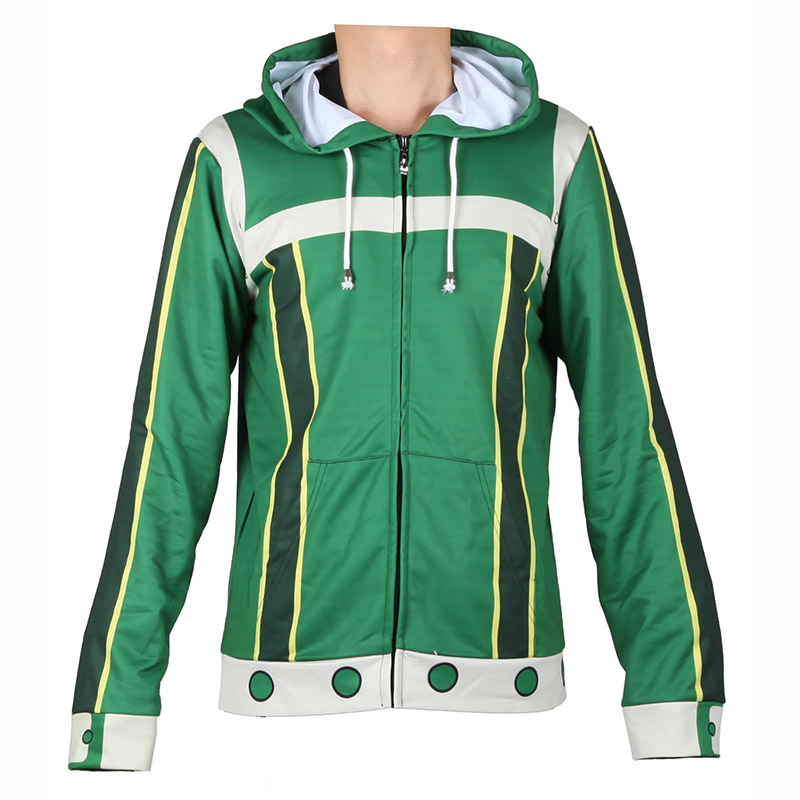 Kids Adult Hero Asui Tsuyu All Might  Hooded Hoodies Sweatshirt Jacket  Advanced One For All  Hero Cosplay Costumes