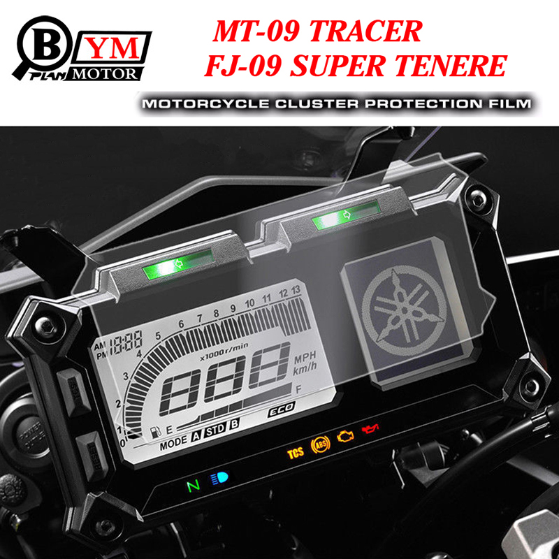 For Yamaha MT-09 TRACER FJ-09 FJ09 Cluster Scratch Protection Film Screen Protector for Yamaha FJ-09 MT-09 TRACER SUPER TENERE kemimoto for yamaha mt 10 fz 10 cluster scratch speedometer film screen protector for yamaha mt 10 mt10 2016 2017