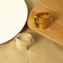 5PCS stainless steel napkin ring metal figure-shaped buckle hotel home model room wedding mat towel circle gold / silver