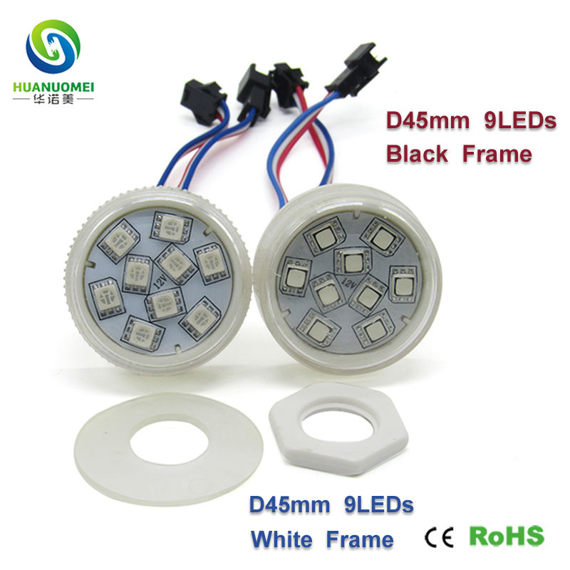 ce rohs 5050 smd module led backlight module 45mm 9LEDs UCS1903 Pixel Light bulb digital addressable