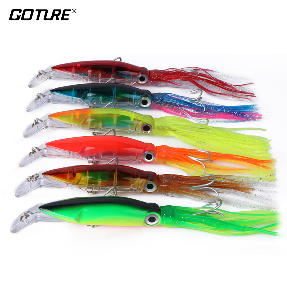 Goture 6pcs/lot Squid Lure Wobbler 14cm 40g Fishing Lures ...