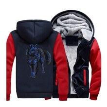 662f948f93f Animal Black Wolf Hoodies Men 2019 New Spring Winter Warm Jackets Harajuku  Long Sleeve Sweatshirts Casual