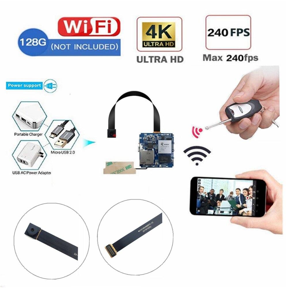Controle remoto Real 2.7K K WiFi P2P 4 Mini Câmera Gravador De Vídeo Detector de Movimento Digital de Pequeno Módulo Da Câmera DIY segurança Cam