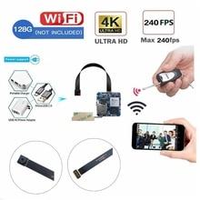 WiFi P2P Mini kamera 16MP 4K prawdziwe 2.7K szerokokątny bezprzewodowy aparat cyfrowy kamery wideo Motion Detec pilot DIY aparat moduł