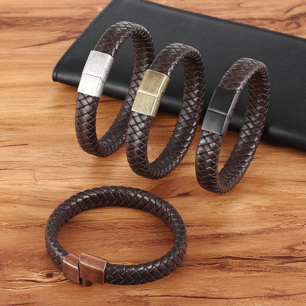 TYO Vintage Buckle 8 Colors For Choices Spacial Design Genuine Leather Bracelets For Men Women Accessories Jewelry Classic Gift
