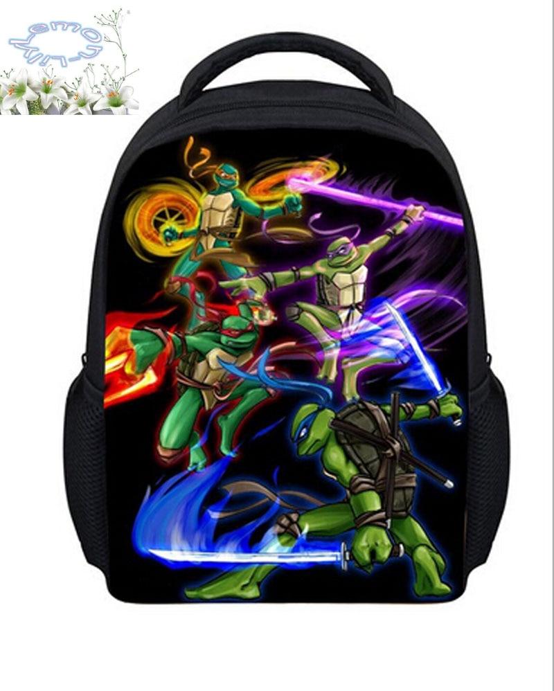2016 Hot Sale  Mutant Ninja Turtles Backpack Children Teenage Schoolbag Boys Mochila Masculina Gift Kids Free Shipping B029