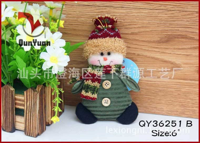 QY36251ABC-2-Christmas-Ornaments-Dolls-Santa-Claus-Snowman-Reindeer-Xmas-Decoration-Father-Christmas-Little-Hang-
