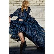 높은 품질 최신 2020 디자이너 휴일 맥시 드레스 여성 3/4 슬리브 섹시한 허리 전체 긴 드레스를 절단