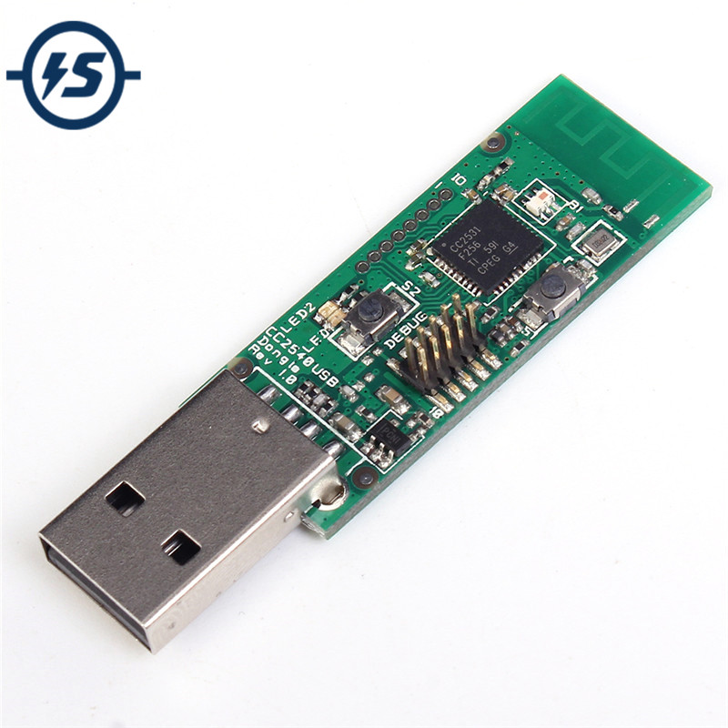 Drahtlose Zigbee CC2531 Sniffer-software-protokoll-analyse Bare Board Paket Protokoll Analyzer Modul Usb-schnittstelle Dongle Erfassen Paket Zigbee Modul