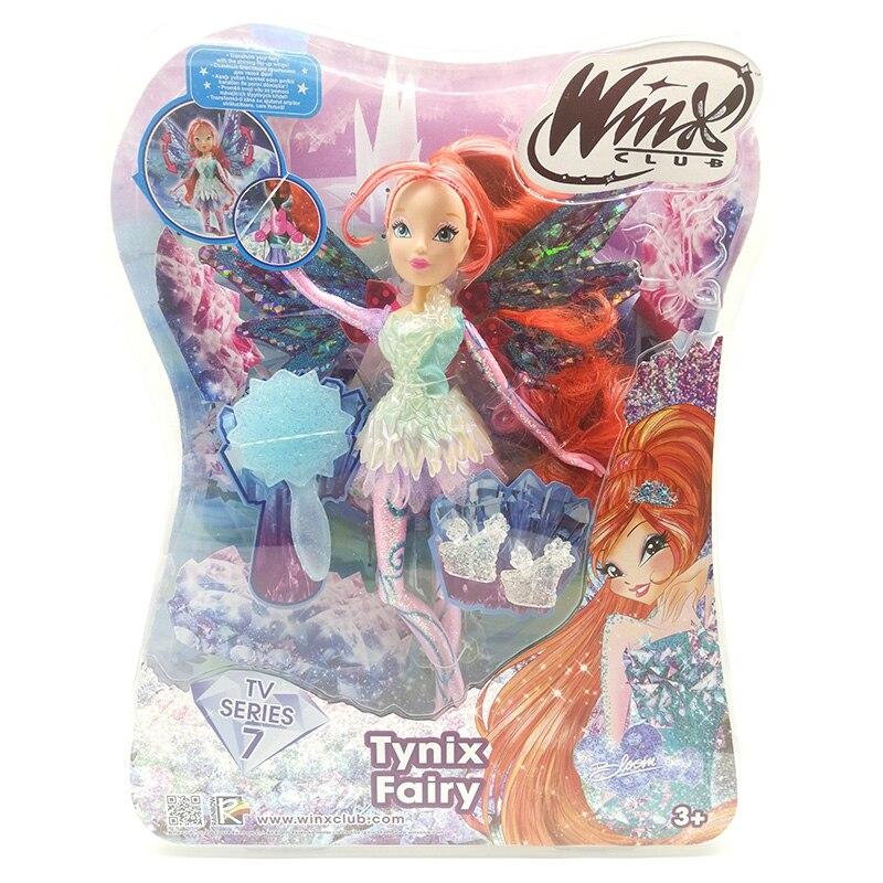 Tynix fée/Dreamix fée/Onyrix fée Winx Club poupée arc-en-ciel coloré fille poupées avec ailes jouets classiques pour filles cadeaux