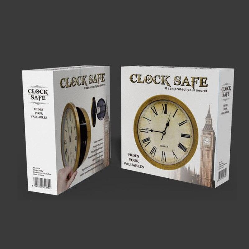Купить с кэшбэком Wall Clock Safe Box Creative Vintage Hidden Secret Storage Box for Cash Money Jewelry Home Office Security Clock Style Safes