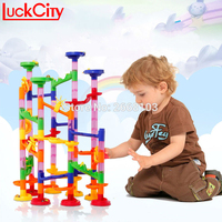 Track Ball Blocks Children S Educational Toys 105 PCS 3d Maze Pipe Dominoes