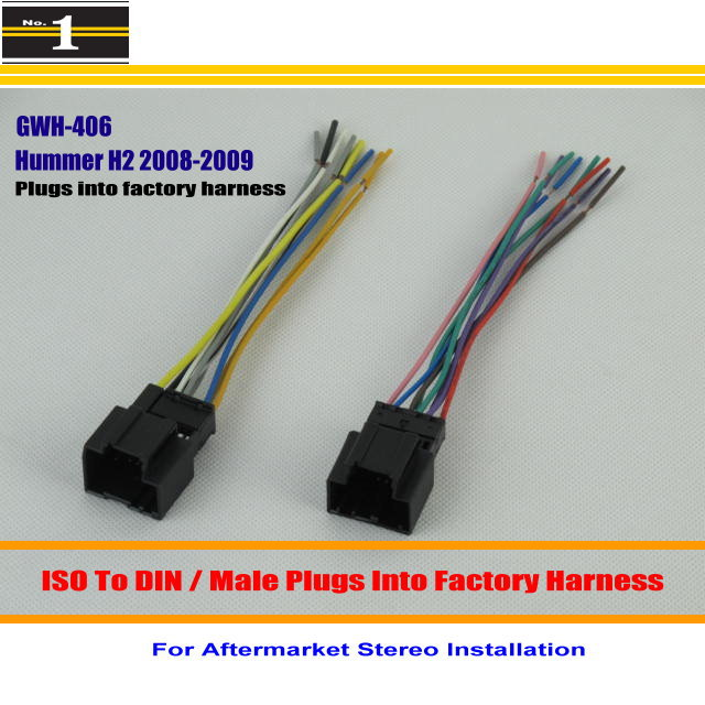 Male ISO Radio Wire Cable font b Wiring b font Harness Car font b Stereo b 2005 hummer h2 radio wiring diagram hummer wiring diagrams for Hummer H2 Parts Diagram at gsmportal.co