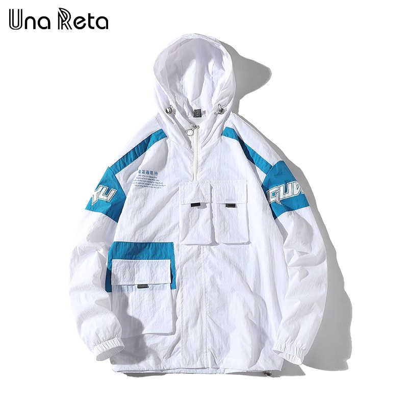 ウナ Reta 男ジャケット新ジャケットトラックスーツカジュアル印刷男性のパーカーコートヒップホップルーズマルチポケットデザインジャケット