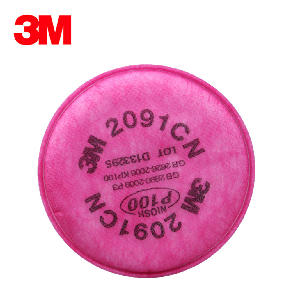 3M 2091CN Respirator Mask Filters Filtration Rate P100 99.7% Pro Anti Industrial Dust Pollen Haze Poison Gas Filters Set airborne pollen allergy
