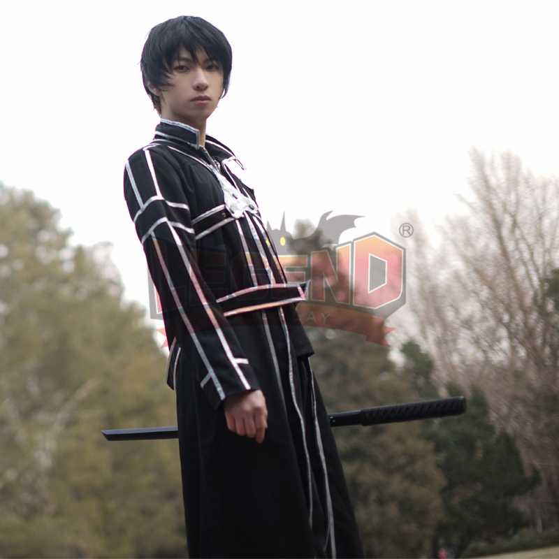 cosplay anime Sword Art Online Kirigaya Kazuto Cosplay adult costume full set halloween men costume