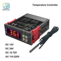 STC-1000 Цифровой регулятор температуры Термостат Терморегулятор для инкубатора Термостат для инкубатора Отопление и охлаждение Светодиод 10А...